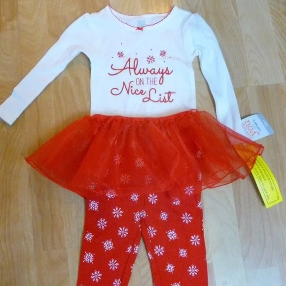 d79a5fa35 Carter's Matching Sets   Christmas Girls 3 Piece Outfit Nwt C 7 ...